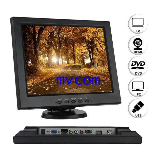 TFT 12 Inch LCD Monitor with AV / VGA / HDMI / USB Input รับประกัน 1 ปี