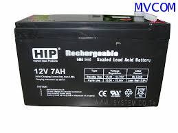 Battery 12 Volt 7.0 Amp สำรองไฟนาน 5 ชั่วโมง
