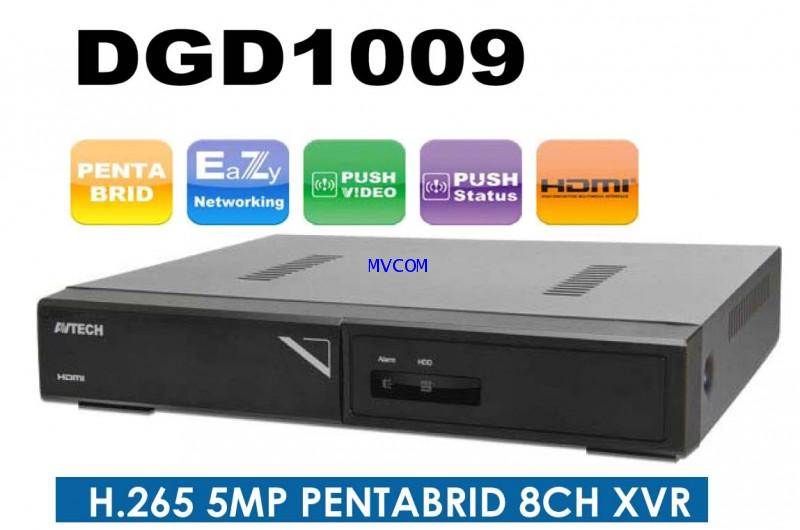AVTECH DVR 8CH H.265 (5MP) รุ่นDGD1009 Free! Host Made in Taiwan รับประกัน 2 ปี