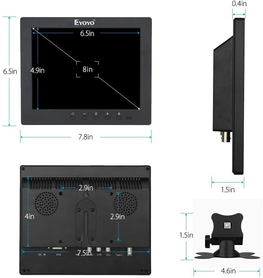 Eyoyo Monitor TFT LCD 8 นิ้ว 4:3  รับประกัน 1 ปี 1