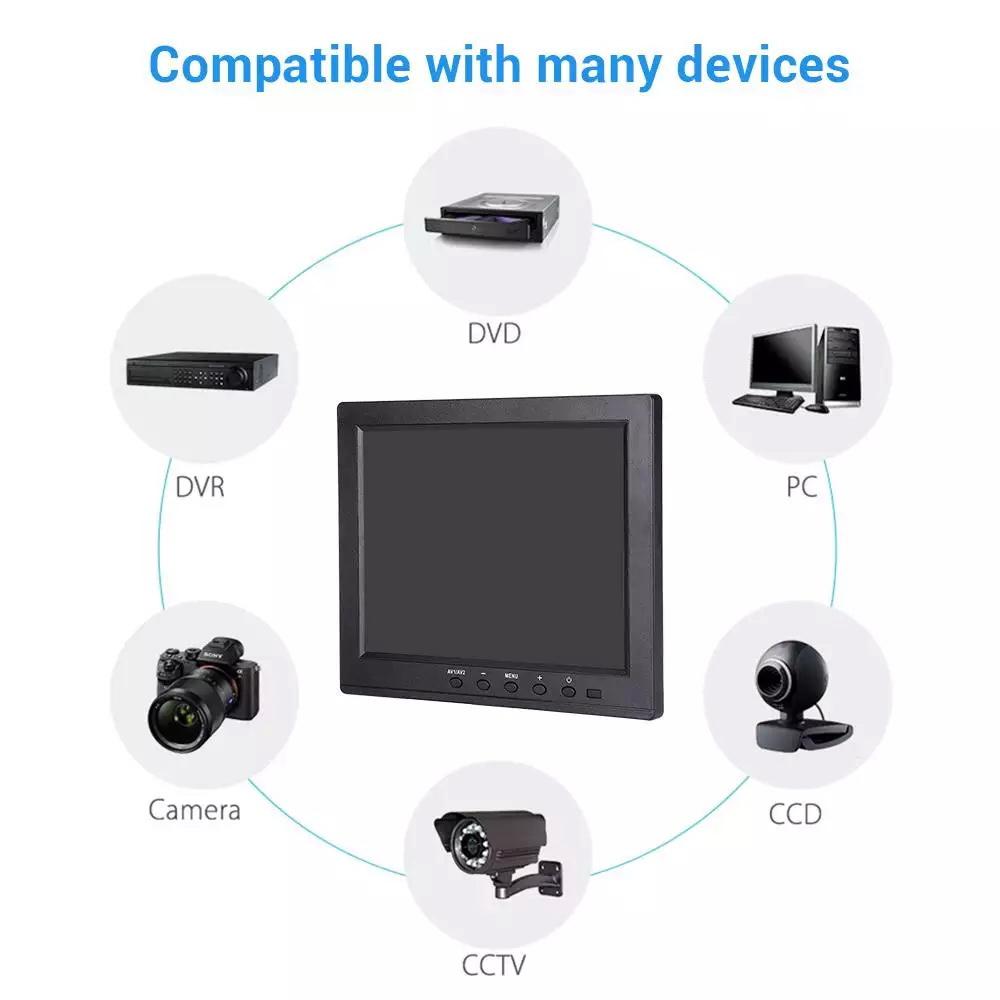Monitor LED 8 นิ้ว TFT IPS HD (4:3)Signal input VGA,AV,PC, HDMi,TV, ( MODEL: H8006 ) รับประกัน 1 ปี