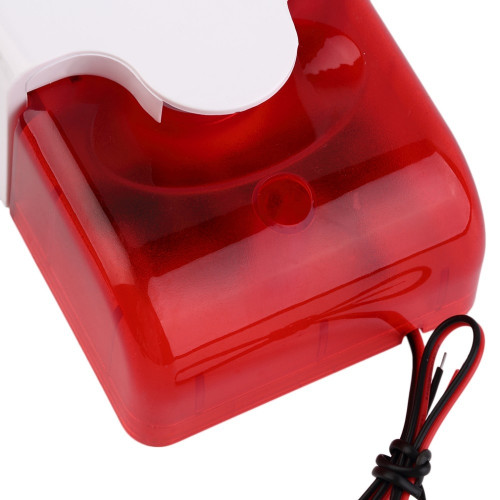 Mini siren with half strobe 12VDC 110dB ABS Housing - Red
