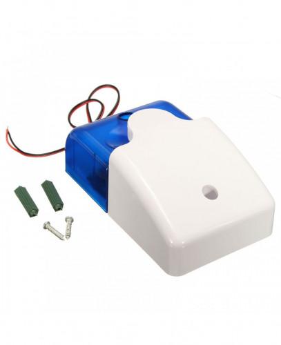 Mini Siren With Half Strobe Housing - ฺBlue 1