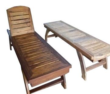 เฟอร์นิเจอร์ไม้สัก(Furniture)เตียงสนาม,เตียงสนามไม้,เตียงสระน้ำไม้สัก ไม่มีที่พักแขน แบบไม่มีล้อ