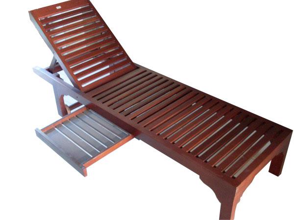 เฟอร์นิเจอร์ไม้สัก(Furniture) เตียงสนาม,เตียงสนามไม้,เตียงสระน้ำไม้สักแบบไม่มีล้อ