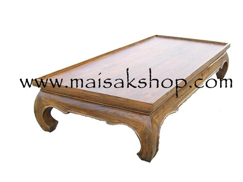 เฟอร์นิเจอร์ (Furniture) ตั่ง,เตียง,เตียงขาคู้ไม้สัก แบบมีขอบกั้นที่นอน