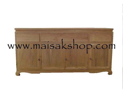 เฟอร์นิเจอร์ไม้สัก(Furniture)ตู้,ตู้โชว์, ตู้โชว์ไม้สักพร้อมวางทีวีแบบทึบ