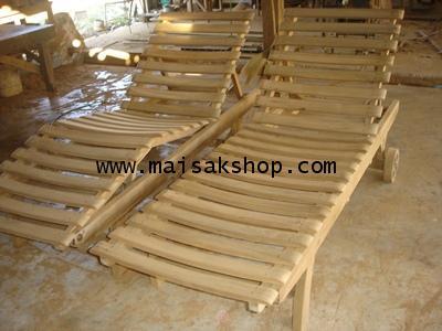 เฟอร์นิเจอร์ไม้สัก(Furniture) เตียงสนาม,เตียงสนามไม้,เตียงสระ,เตียงสระน้ำไม้สักแบบระแนง