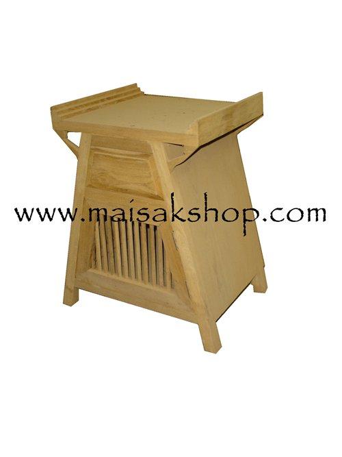 เฟอร์นิเจอร์ไม้สัก (Furniture) ตู้หัวเตียงไม้สักหรือตู้ข้างเตียงไม้สัก แบบ สไตล์จีนโบราณ