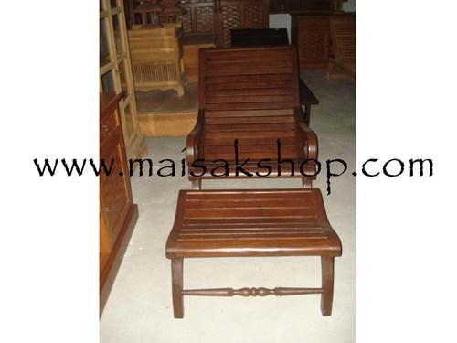 เฟอร์นิเจอร์ไม้สัก (Furniture) เก้าอี้,เก้าอี้ไม้, เก้าอี้ไม้สัก แบบมีที่พักเท้า