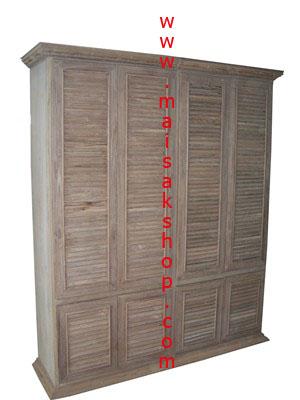 เฟอร์นิเจอร์ไม้สัก (Furniture)  ตู้,ตู้เสื้อผ้าไม้,  ตู้เสื้อผ้าไม้สัก แบบ 4 บานใหญ่ 4 บานเล็ก