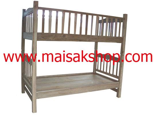 เฟอร์นิเจอร์ไม้สัก(Furniture)เตียง,เตียงไม้,เตียงไม้สัก,เตียงนอนไม้สัก แบบ 2 ชั้น
