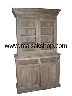 เฟอร์นิเจอร์ไม้สัก(Furniture) ตู้,ตู้โชว์,ตู้โชว์ไม้สักแบบ 2 ชั้น