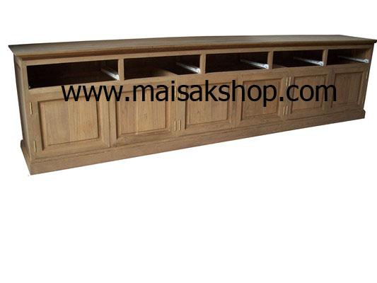 เฟอร์นิเจอร์ไม้สัก(Furniture) ตู้,ตู้โชว์, ตู้โชว์ไม้สักแบบเคาว์เตอร์ 6 ลิ้นชัก 3บานเปิดคู่