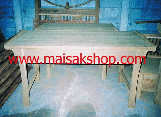 เฟอร์นิเจอร์ไม้สัก (Furniture)  โต๊ะ,โต๊ะทำงานไม้สัก แบบไทยโบราณ3ลิ้นชัก