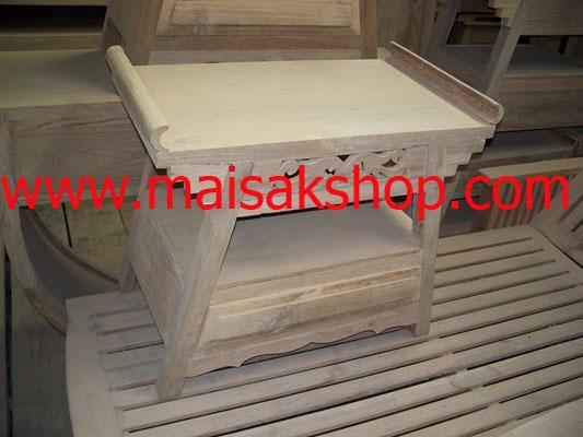 เฟอร์นิเจอร์ไม้สัก (Furniture) ตู้หัวเตียงไม้สักหรือตู้ข้างเตียงไม้สักแบบฉลุลายไทยผสมผสานแบบจีน