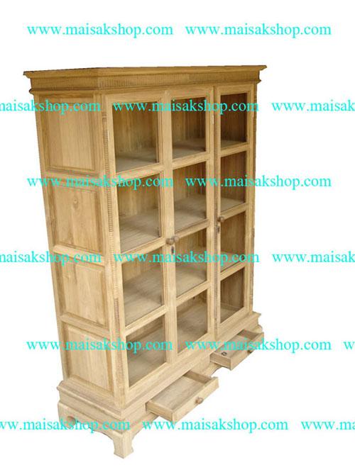 เฟอร์นิเจอร์ไม้สัก(furniture) ตู้,ตู้โชว์,ตู้โบราณ,ตู้โบราณไม้,ตู้โบราณไม้สัก 3 บาน 4 ชั้น