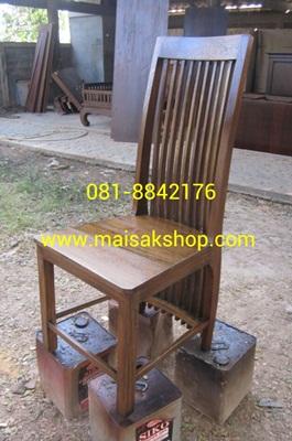เฟอร์นิเจอร์ไม้สัก(Furniture) เก้าอี้พนักพิงไม้ชี่ยาว