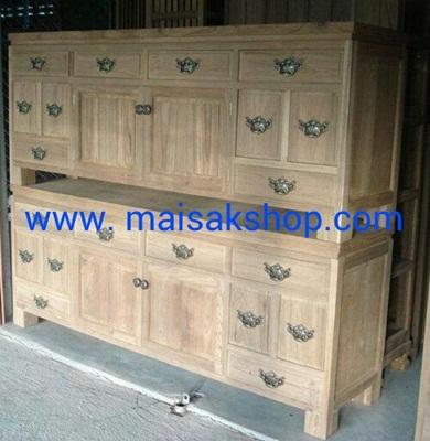 เฟอร์นิเจอร์ไม้สัก(Furniture) ตู้โชว์,ตู้วางทีวีไม้สักบานทึบ