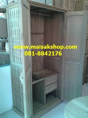 เฟอร์นิเจอร์ไม้สัก(Furniture)  ตู้,ตู้เสื้อผ้าไม้,   ตู้เสื้อผ้าไม้สักลายสาน