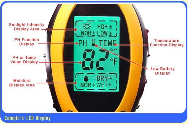 เครื่องวัดดิน ระบบดิจิตอล 4in1 - วัดค่า pH ดิน, วัดความชื้นดิน, วัดอุณหภูมิดิน และค่าแสง รุ่น DSM-90 1