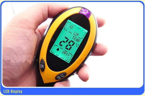 เครื่องวัดดิน ระบบดิจิตอล 4in1 - วัดค่า pH ดิน, วัดความชื้นดิน, วัดอุณหภูมิดิน และค่าแสง รุ่น DSM-90 4