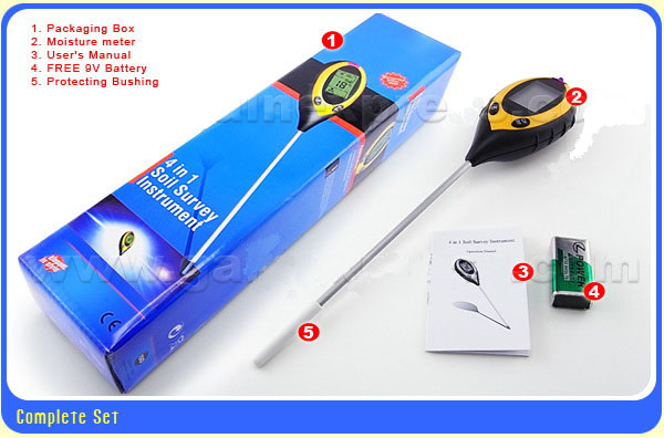 เครื่องวัดดิน ระบบดิจิตอล 4in1 - วัดค่า pH ดิน, วัดความชื้นดิน, วัดอุณหภูมิดิน และค่าแสง รุ่น DSM-90 5