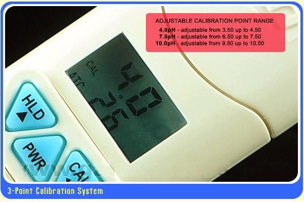 มิเตอร์วัดกรดด่าง (pH) ระบบดิจิตอล กันน้ำ 100 รุ่น AZ-81 ฟรี! Calibrate Solutions 4,7,10 3