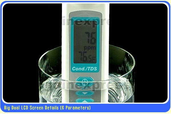 มิเตอร์วัดค่า EC / TDS / Temperature แบบ 3in1 ในตัวเดียว 5