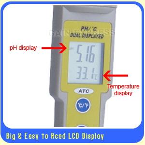 มิเตอร์วัดค่ากรด-ด่าง(pH), อุณหภูมิ เปลี่ยนหัวอ่านได้ + ฟรี! buffer 3 ค่า สำหรับปลูกผักไฮโดรโปนิกส์ 1