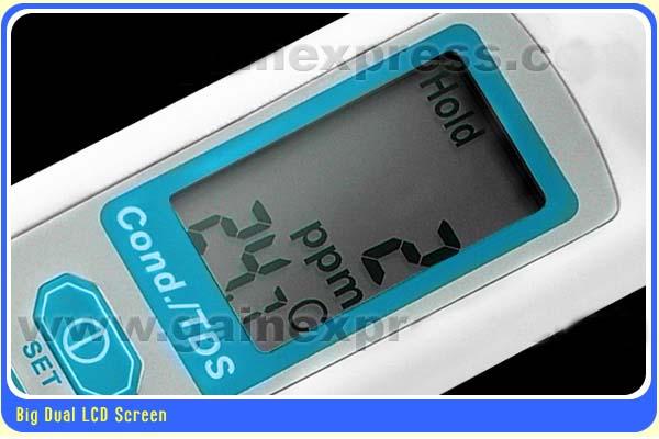 เครื่องวัด EC, TDS, อุณหภูมิ 3in1 ใช้ปลูกผักไฮโดรโปนิกส์ ฟรี!น้ำยาสอบเทียบ 1413uS, 5.00mS ราคา 400.- 4
