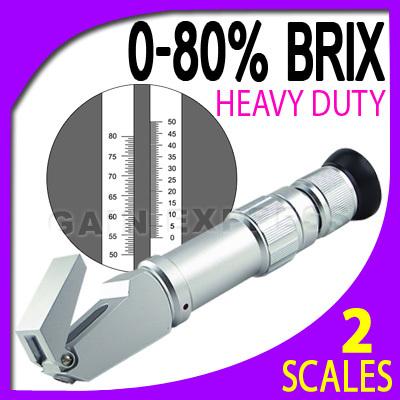 เครื่องวัดความหวาน น้ำตาล (Brix) ในผลไม้ เครื่องดื่ม น้ำเชื่อม ช่วงค่า 0-80 Brix