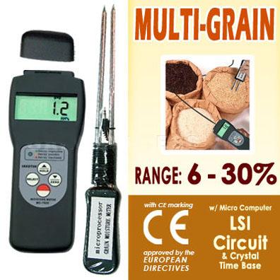 เครื่องวัดความชื้นเมล็ดธัญพืชกว่า 36 แบบ เช่น ข้าว ข้าวโพด ถั่วเหลือง กาแฟ ฯ รุ่น MC-7825G