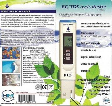 เครื่องวัด EC, TDS, อุณหภูมิ ใช้ปลูกผักไฮโดรโปนิกส์ รุ่น HM-3in1 1