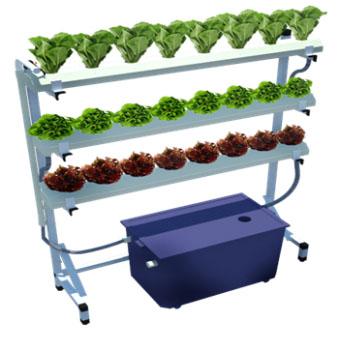 ชุดรางสำเร็จรูปสำหรับปลูกผักไฮโดรโปนิกส์ ผักไร้ดิน ขนาด 24 หลุม รุ่น Condo Farm 002
