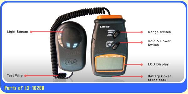 มิเตอร์วัดค่าแสง สำหรับการปลูกพืชไฮโดรโปนิกส์ ในโรงเรือน โรงเพาะชำ ช่วงค่า 0-100,000 Lux 2