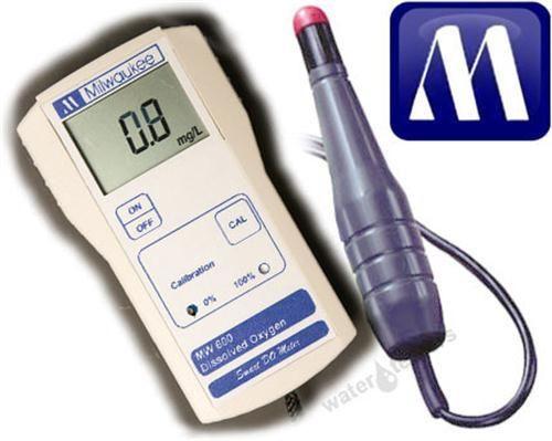เครื่องวัดปริมาณออกซิเจนในน้ำ (Dissolved Oxygen Meter) Milwaukee รุ่น MW600 ช่วงค่า 0.0 - 19.0 mg/L