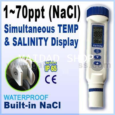 เครื่องวัดน้ำเค็ม น้ำทะเล ความเค็มน้ำประปา คูคลอง Salinity Meter ช่วงการวัด 0-70 ppt รุ่น AZ-8373