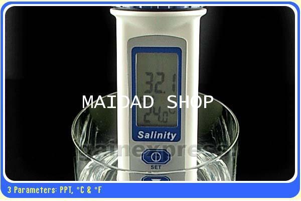 เครื่องวัดน้ำเค็ม น้ำทะเล ความเค็มน้ำประปา คูคลอง Salinity Meter ช่วงการวัด 0-70 ppt รุ่น AZ-8373 1