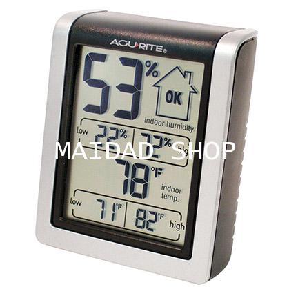 เครื่องวัดความชื้น และอุณหภูมิ (Hygrometer) ใช้ในโรงเพาะเห็ด โรงเรือน โกดัง ไซโล ยี่ห้อ AcuRite USA