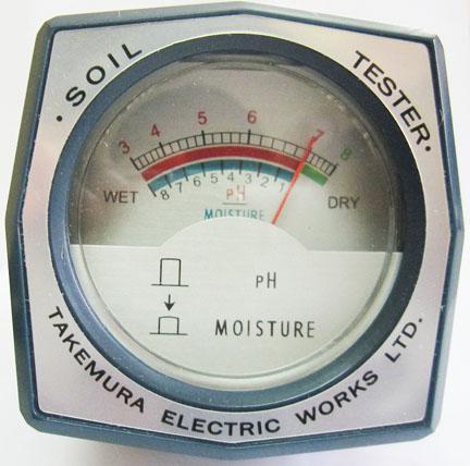 เครื่องวัด pH ความชื้นในดิน ยี่ห้อ Takemura ผลิตในญี่ปุ่น รุ่น DM-15 1