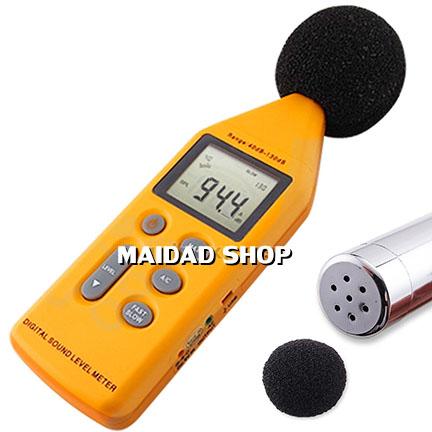 เครื่องวัด และบันทึกระดับเสียง ความดังเสียง ช่วง 40-130 เดซิเบล (dB)