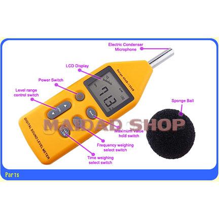 เครื่องวัด และบันทึกระดับเสียง ความดังเสียง ช่วง 40-130 เดซิเบล (dB) 1
