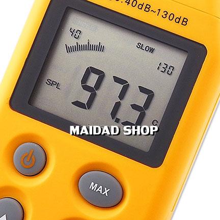 เครื่องวัด และบันทึกระดับเสียง ความดังเสียง ช่วง 40-130 เดซิเบล (dB) 2