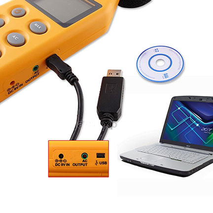เครื่องวัด และบันทึกระดับเสียง ความดังเสียง ช่วง 40-130 เดซิเบล (dB) 4