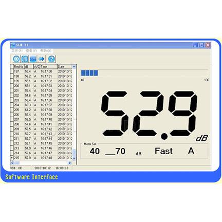เครื่องวัด และบันทึกระดับเสียง ความดังเสียง ช่วง 40-130 เดซิเบล (dB) 5