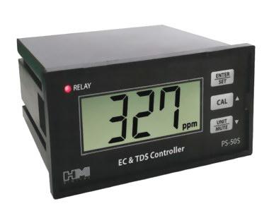 Controller EC TDS สำหรับปลูกผักไฮโดรโปนิกส์ ยี่ห้อ HM ช่วงค่า EC 0.0-20.0 mS, TDS 0.0-9999 ppm
