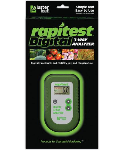 เครื่องวัดดิน 3in1 ระบบดิจิตอล ใช้วัดปุ๋ย NPK โดยรวมในดิน, วัด pH ดิน, อุณหภูมิดิน