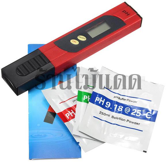 เครื่องวัดกรดด่าง (pH) รุ่น PH-002 สำหรับปลูกผักไฮโดรโปนิกส์ สอบเทียบแบบกดปุม ไม่ต้องใช้ไขควงหมุน 1