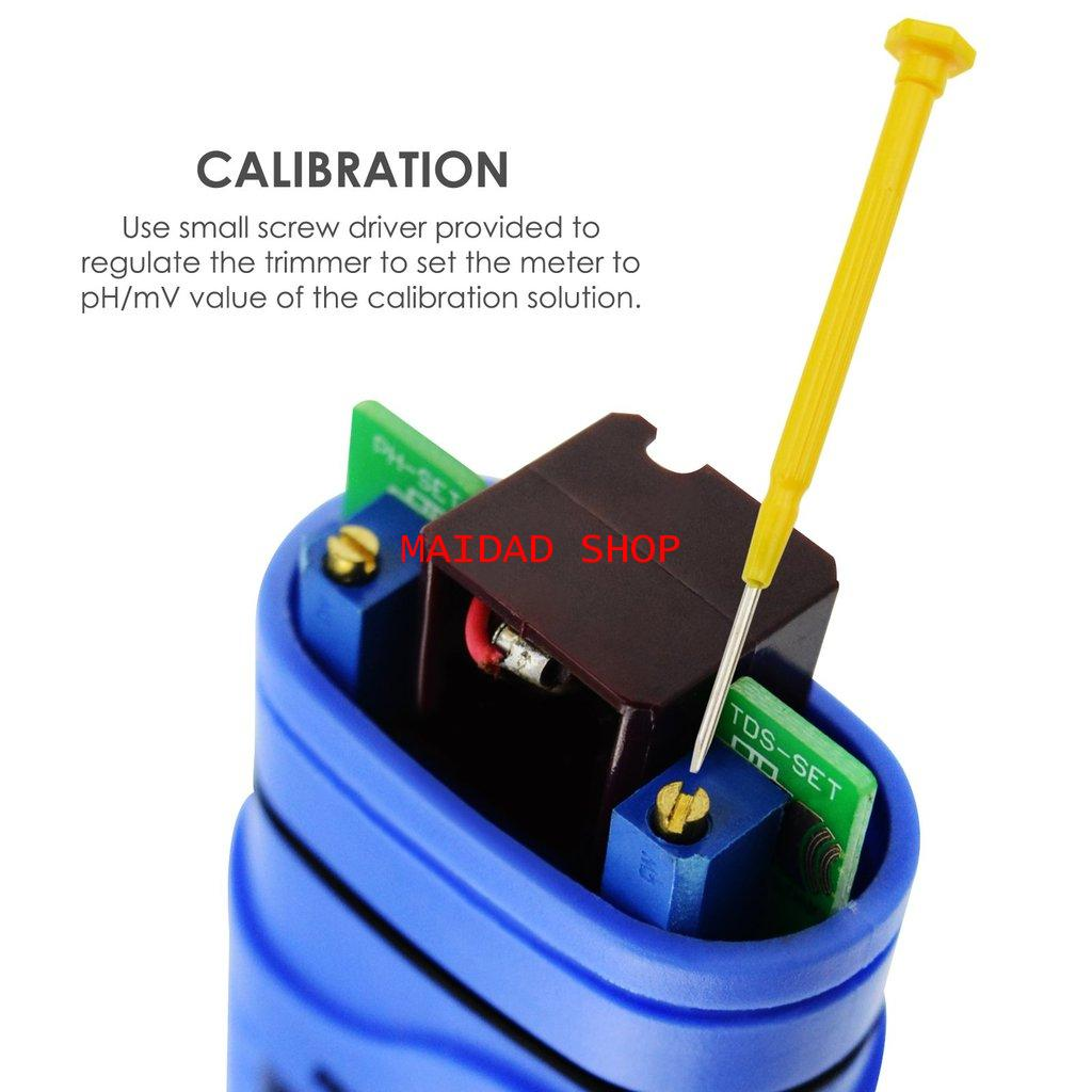เครื่องวัด EC, pH, อุณหภูมิ แบบ 3in1 หน่วย EC เป็น mS ใช้วัดค่าปุ๋ย A+B, pH ในการปลูกผักไฮโดรโปนิกส์ 2